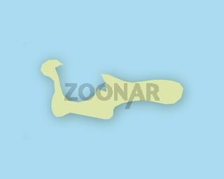 Karte von Grand Cayman mit Schatten - Map of Grand Cayman with shadow