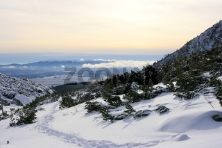 High tatra in the fresh winter snow