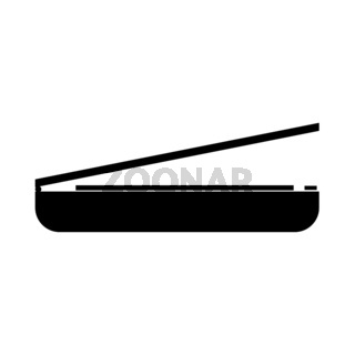 Scanner it is black icon .