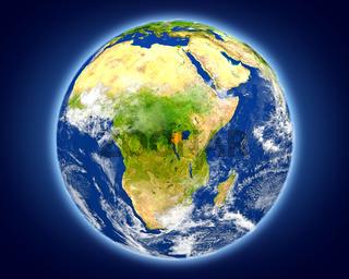 Rwanda on planet Earth