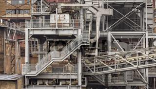 rundown  industrial scenery