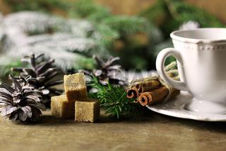 cup cinnamon sugar pine cone Christmas tree