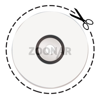 cut out cd token