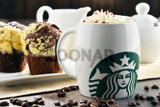 Starbucks, coffee company and coffeehouse chain, founded in Seattle, Wa. USA, in 1971