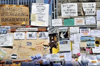 Protest gegen gegen das Projekt Stuttgart  21 vor dem Hauptbahnhof Stuttgart. Baden-Württemberg, Deutschland, Europa