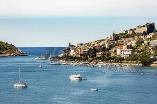 Portovenere on the Mediterranean Sea in Italy