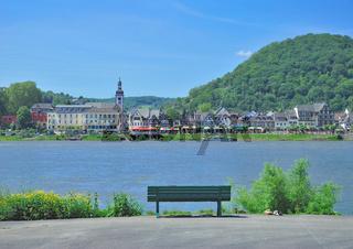 Blick auf Bad Breisig am Rhein