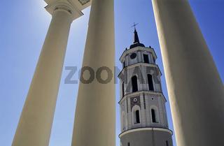 Litauen,  Vilnius, Saeulen der Sankt Stanislaw-Kathedrale, Dom,