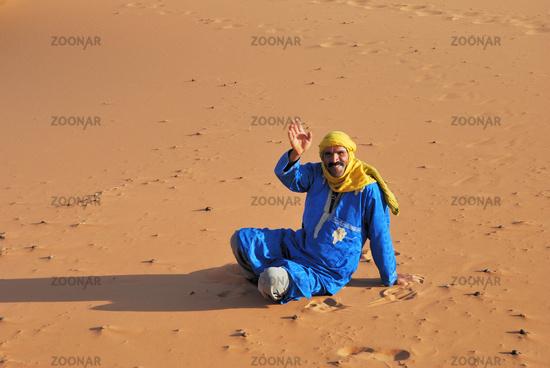 Tuareg, Erg Chebbi Desert, Morocco, Africa
