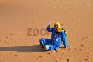 Tuareg, Wüste Erg Chebbi, Marokko, Afrika