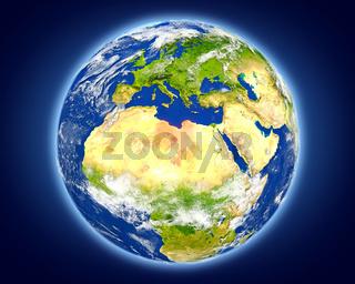 Libya on planet Earth