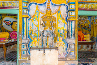Murals and sculptures in Ambalangoda for worship of the live of Buddha