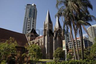 Kathedrale St. John's Cathedral  in der Innenstadt von Brisbane