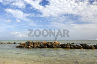 Tropischer Himmel über dem Indischen Ozean