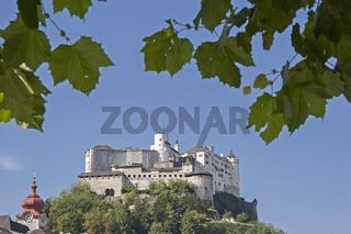 Die Festung Hohensalzburg in Österreich