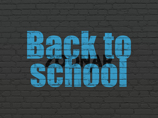 Studying concept: Back to School on wall background