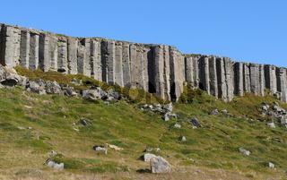 Basaltklippe Gerðuberg in Island