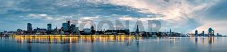 Hamburg Skyline at sunrise, Germany