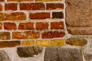 brick wall pattern  with boulders