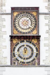 Uhr am Rathaus von Görlitz, Oberlausitz
