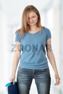 Young student woman