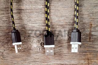 Three USB cables