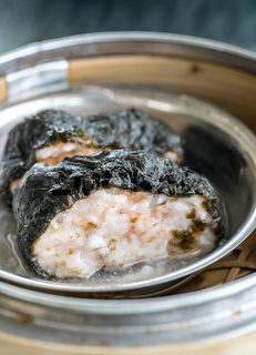 dim sum seaweed pork dumpling