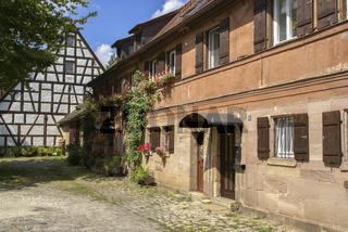 historische Haeuser in Gerasmuehle, Nuernberg, Bayern, Deutschland