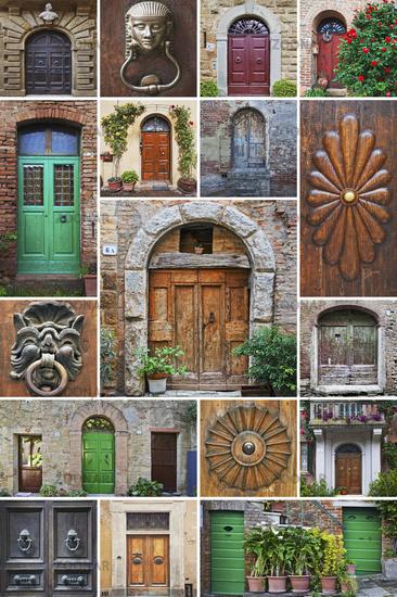 doors in Tuscany, Italy