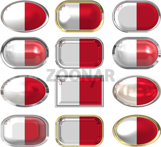 twelve buttons of the Flag of Malta