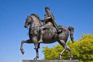 Marc Aurel-Reiterstatue, Tulln, Niederösterreich, Österreich, Europa / Marc Aurel cavalier statue, Tulln, Lower Austria, Austria, Europe