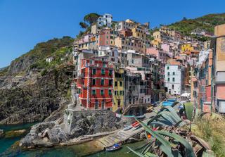 Riomaggiore Cinque Terre Ligurien Italien