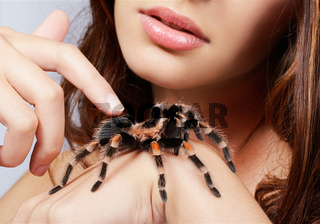 girl with spider