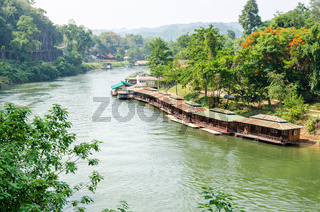 Kwai Noi river under Death Railway bridge