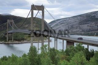 Kjellstraum-Brücke in Nord-Norwegen