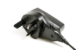 Black power plug UK type