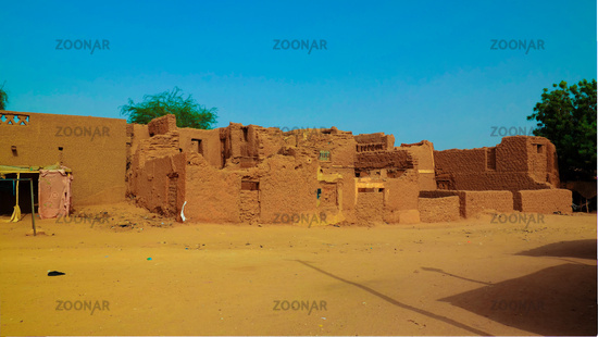 At the streets of Agadez old city, Niger