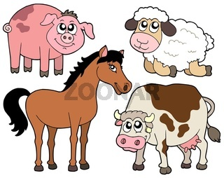 Country animals collection 2 - isolated illustration.