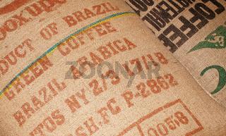 Kaffee Säcke Nahaufnahme