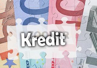 Kredit - Konzept Geld und Finanzierung