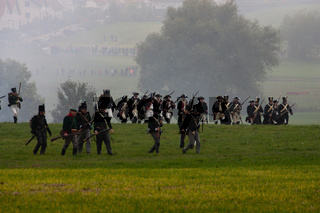 Schlachtnachstellung am 18.10.2006 der preußisch-französischen Schlacht in Auerstedt bei Jena