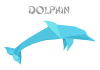 origami style dolphin