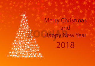 xmas greeting card for new years 2018