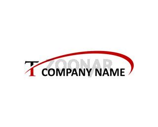 t letter swoosh logo