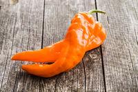 Orange pepper vegetable.