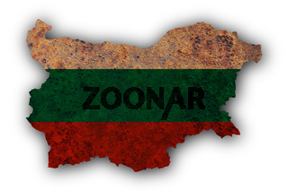 Karte von Bulgarien auf Textur - Textured map of Bulgaria