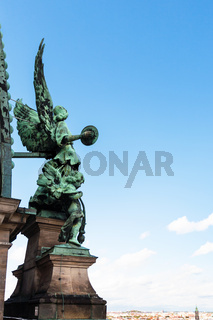 angel figure on roof of Berlin Cathedral