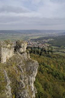 Landschaft rund um den Walberla, Landkreis Forchheim, Bayern, Deutschland