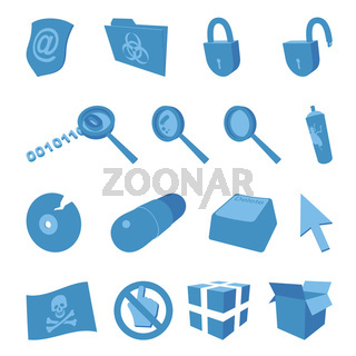 Computer security - set of icons