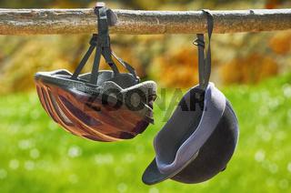 Jockey Helmets on the Rail